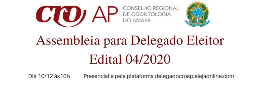 Presencial e pela plataforma delegadocroap.elejaonline.com